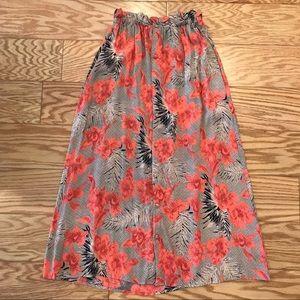 For Love And Lemons Hawaiian Floral Midi Skirt